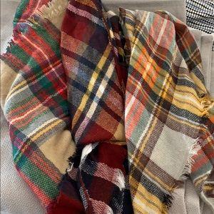 Bundle of 3 blanket scarves